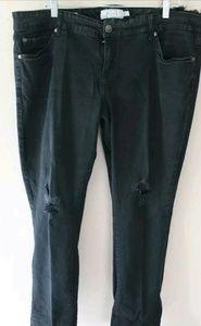 TORRID Black Distressed Skinny Denim Jeans Size 20